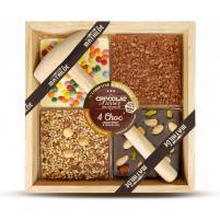 Image chocolat à casser 4 choc assortiment 3 chocolats 400 gr