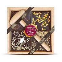 Image chocolat à casser 4 choc assortiment noir 400 gr