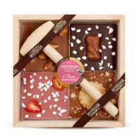 Image chocolat à casser 4 choc assortiment 400 gr