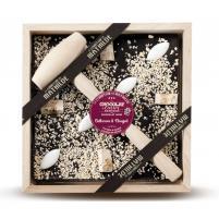 Image chocolat à casser 400 gr chocolat noir calissons-nougat