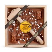 Image chocolat à casser lait 400 gr Oscar ourson guimauve