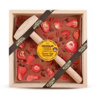 Image chocolat à casser lait 400 gr fraises-baies de goji-cramberries