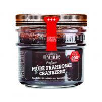 Image confiture  mûres framboises cranberry 290 gr