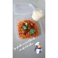Image Spaghetti aux boulettes de viande et basilico