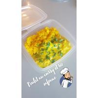 Image Poulet au curry et riz safrané