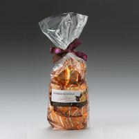 Image Sachet dominos nougat tendre Premium enrobé au chocolat lait orange 250g