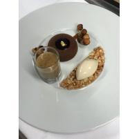 Image Chocolat Cèpes, Praliné noisette, Dacquoise