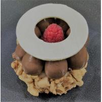 Image DESSERT Biscuit cacahuètes chocolat noir thé menthe et framboises