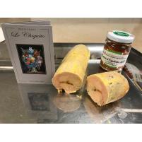 Image Ballotine de Foie gras de Canard mi-cuit au piment d'Espelette 250g