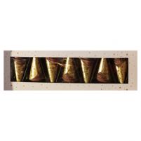 Image Étui de 7 cornets dorés - 120g