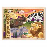 Image Puzzle en bois des plaines africaines 24 pièces