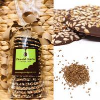 Image Palets graines de sésame torréfiées chocolat au lait 150g