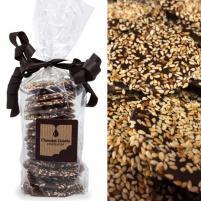 Image Palets graines de sésame torréfiées chocolat noir 150g